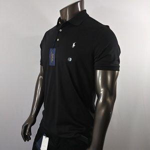 Ralph Lauren Black Polo Shirt with White Pony